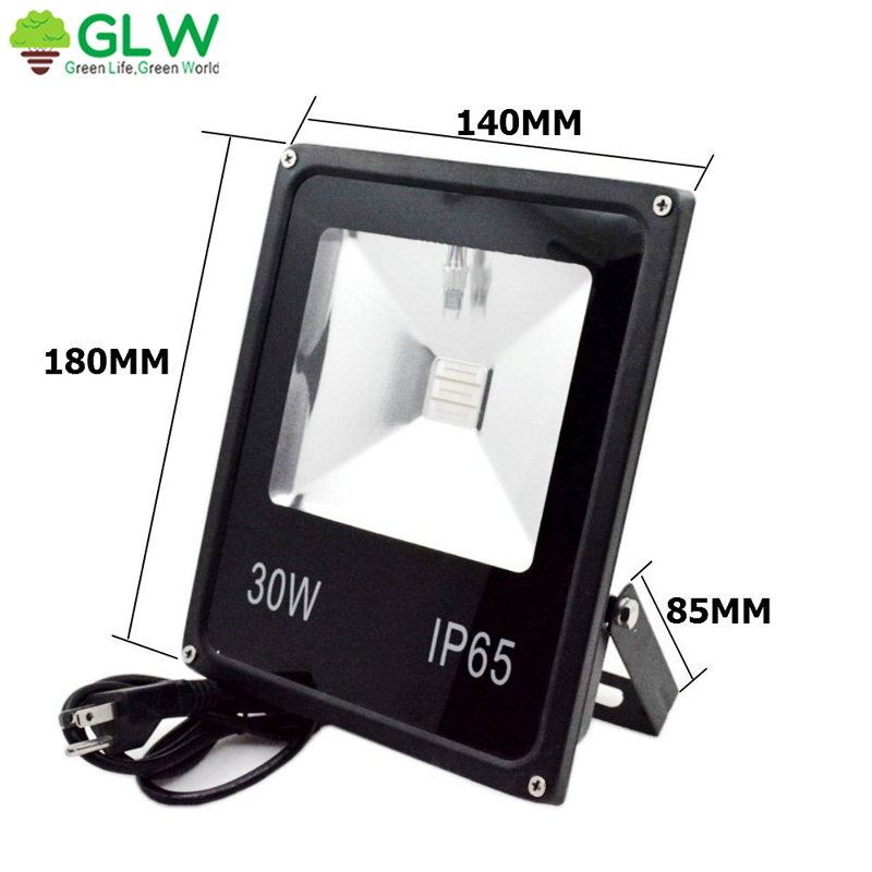30W LED Slim Flood Light RGB Outdoor IP65 For Garden Decoration NO Remote