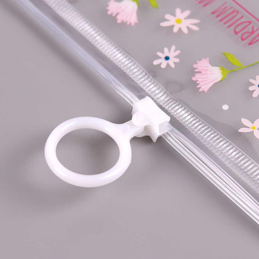 かわいい透明 PVC 防水ペンケース文房具の袋小花動物鉛筆バッグ学用品の学生のギフト