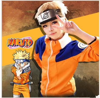 Anime Naruto Uzumaki Childhood Cosplay Costume clothes cartoon jacket pants headband