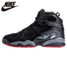 size 40 1e817 1e1ce NIKE Air Jordan 8 Chaussures de Basket-Ball de Ciment Noir Hommes Sneakers,  Sport En Plein Air d origine Confort Chaussures 3053.