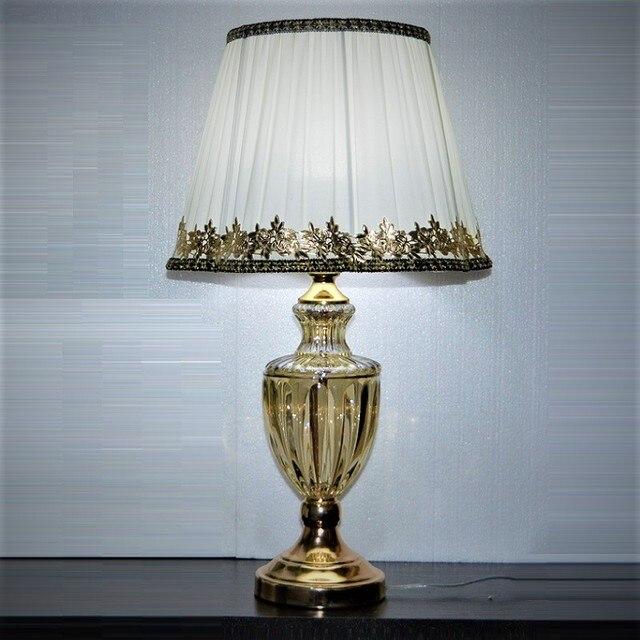 Lâmpada de mesa moderna, estilo europeu, para quarto, sala de estar, decoração de luxo, lâmpada de mesa, iluminação de mesa lateral