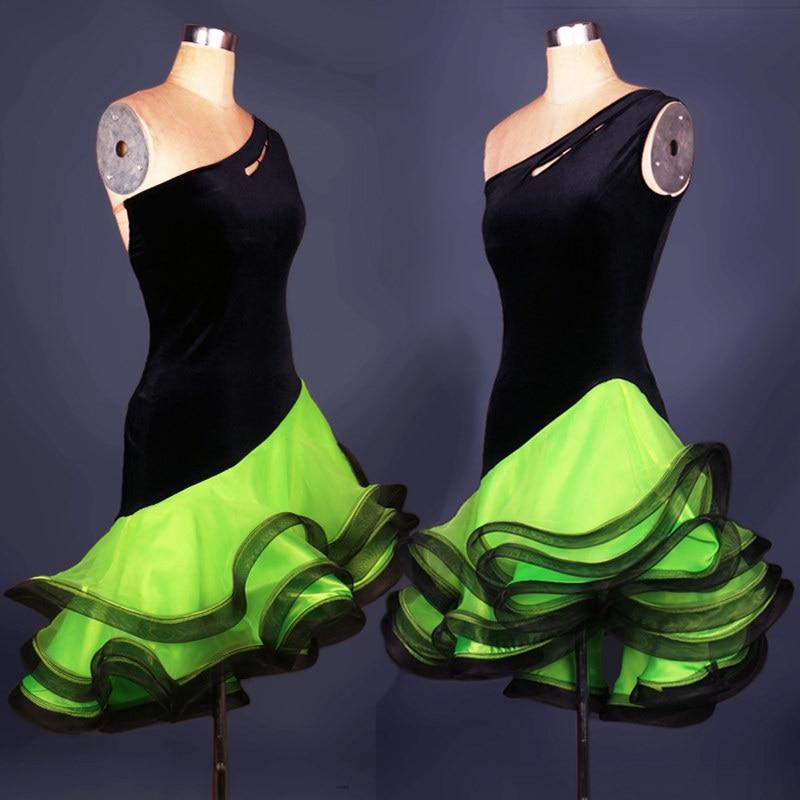 New 2017Adult/Children Latin Dance Dress Women Girls/Lady Cha Cha/Rumba/Samba/Tango/Ballroom Dance Skirt Vestido De Baile Latino