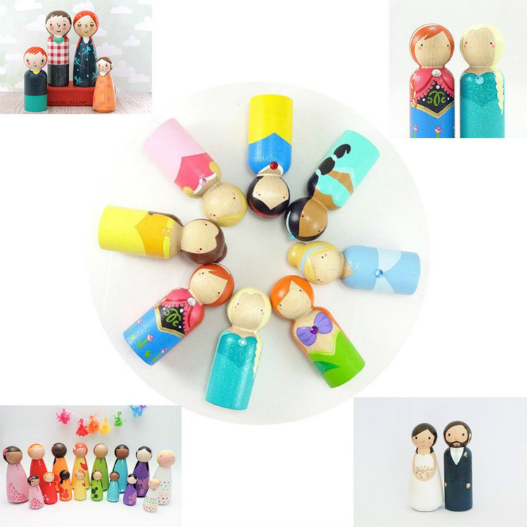 16pcs Unfinished Wood Peg Dolls Bodies Assorted Wooden People Shapes Madera for DIY Arts and Crafts Crafts Set in Wood DIY Crafts from Home Garden
