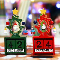 Christmas Tree Ornaments Calendar Wooden Christmas Tree Christmas Decorations Gift Blocks Of Children S English Learning