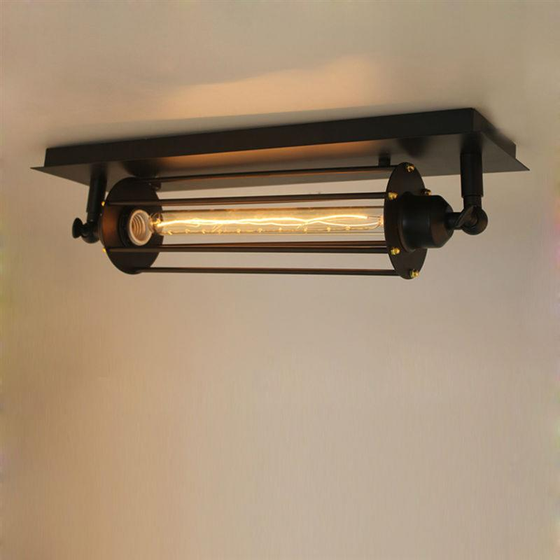 Village Retro Ceiling LED Lights Industrial Style 220V Bar Cafe Restaurant Corridor Lamp With E27 Edison Flute Light Bulb