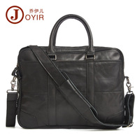 JOYIR 2017 Europe And The United States Fashion Leather Men S Business Briefcase Horizontal Leather Laptop