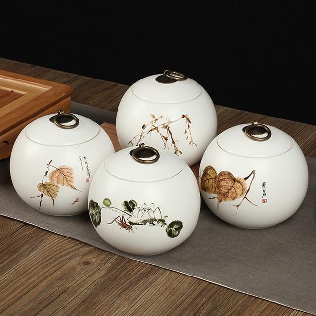 1111   2018 China Storage Bottles High-grade ceramic tea canister Gift storage jar Tea caddy Sugar Bowl Salt shaker storage tank