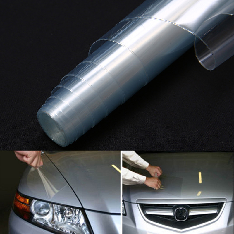 Mayitr 30*120cm Waterproof Transparent Clear Car Headlight Brake Tail Light Tint Vinyl Wrap Film Sheet