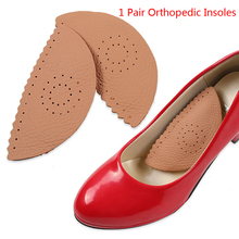 1 Pair Invisible Triangle Leather Massage Orthopedic Insoles For Shoes Pads Arch Support