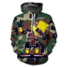 The Simpsons Sweatshirt Anime Hoodie Cosplay Sweatshirts 3D Men New Top