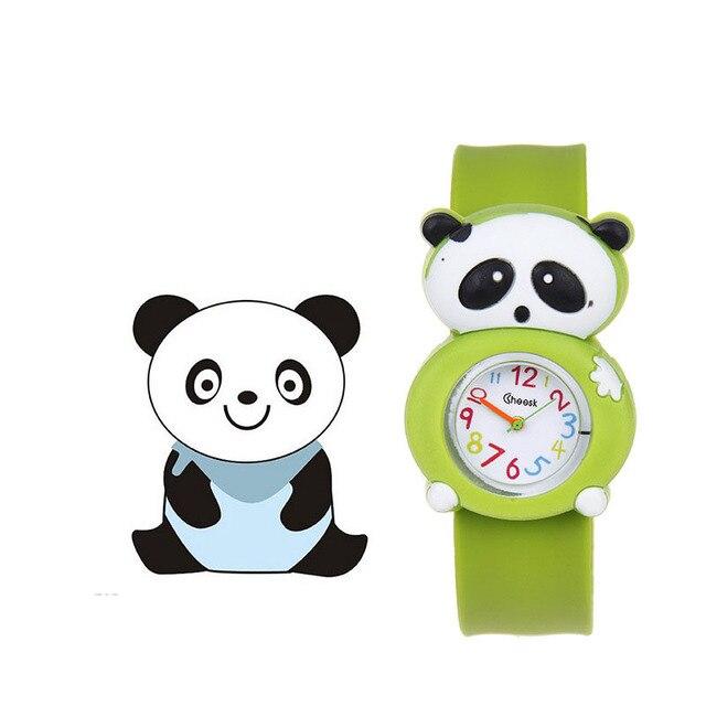 1 Pcs Animal/Plant Shape Children Watches Kids Wrist Quartz Watch Silicone Strap Cute Cartoon Style Fashion Birthday Gift LL@17 1