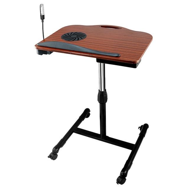 New Folding Mini Wood Laptop Desk/Angle Height Adjustable