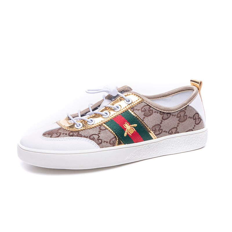 Breathable Women Shoes Sales Lace Up Canvas Shoes Luxury Brand Sneakers Shoes Summer Designer Little Bee Shoes