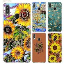 Van gogh sunflowers Daisy Case for Huawei P20 P Smart Nova 3i 4 P8 P9 mini 2017 P30 lite Pro 2019 Silicon Flower TPU Cover Shell недорого