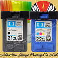 For HP D1320 J3680 J3640 4315 1410 1400 Ink Cartridge 21XL BLACK & 22XL Color E185 Ink