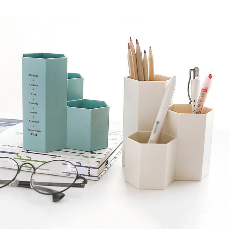 Office Organizer Boxes Makeup Cosmetic Holder Make Up Tools Storage Boxes Brushs Case Jewelry Display Rack Pen Organizers