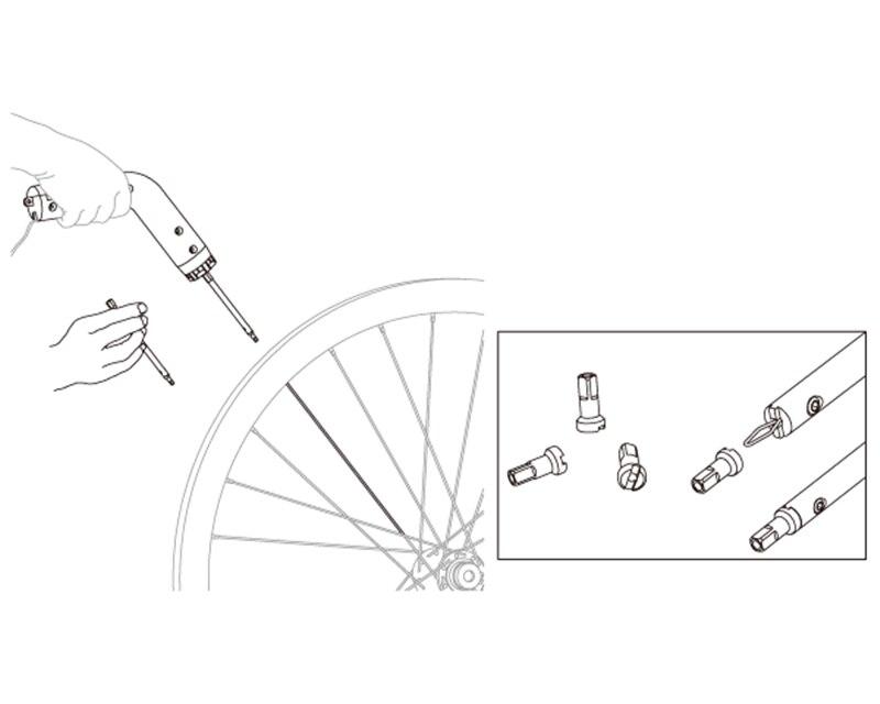 IceToolz 12S4 Bike Bicycle Nipple Wrench For Deep Rim
