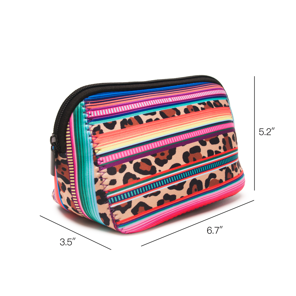 6da9961277b Neoprene Cactus Cosmetic Case Stripe Leopard Triangle Makeup Bag Women  Accessories Hand Bag Free Shipping DOM106529-in Cosmetic Bags   Cases from  Luggage ...