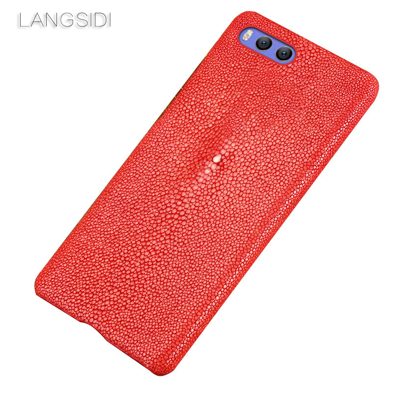 Wangcangli brand mobile phone case Pearl fish half a pack phone holster For Xiaomi 5X phone case handmade custom processing