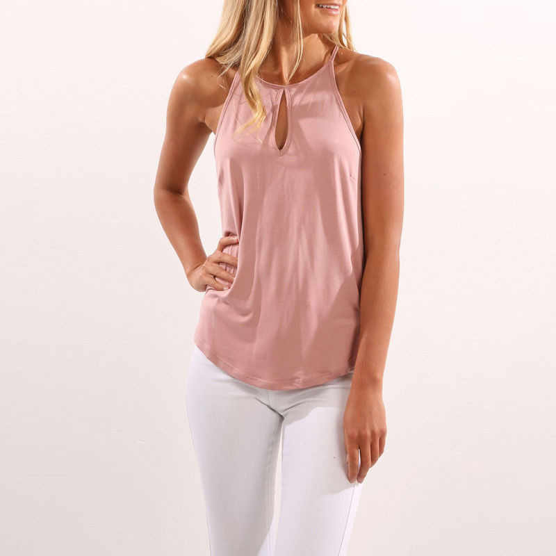 6856ac478b9 Sexy Cotton Loose Female Vest Tops Casual Ladies Tank Tops TeeShirt Summer  Sleeveless Strap Solid Color