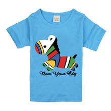 2017 Boys Short Sleeve T Shirts For Children Cute Horse T-shirt Cotton 1-18 Year Kids Clothing Baby Girls Tops Tees Clothes