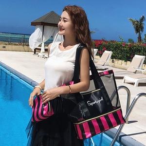 Image 4 - Femme fourre tout sacs à main femmes été plage Sac concepteur voyage bagages sacs à bandoulière humide sec séparation Sac à main Sac a main