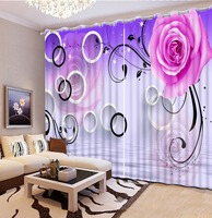 Custom any size vintage window curtains purple flower custom curtains blackout curtains for bedroom home bedroom decoration