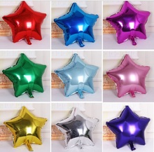 50pcs/lot 10inch Five point star foil balloons Birthday Party Wedding Marriage Baby show decoration supplies air globos