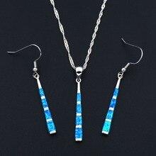 Благородный синий огненный опал ювелирные наборы для леди бейсбольная летучая мышь дизайн