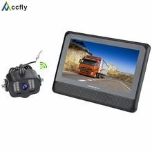 Accfly Sans Fil inverse de voiture de sauvegarde caméra de recul pour camions bus pelle van Caravane RV Remorque Camping-Car avec Moniteur