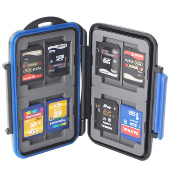 TOFOCO 12 Slots Memory Card Case Waterproof Slim For SD Card Holder Box MC-SD Stores Protector For SD Card Storage Case Holder