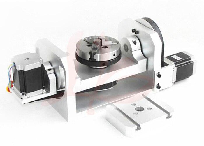 CNC cuarto eje/eje quinto (A aixs, eje de Rotación) con mandril para ...