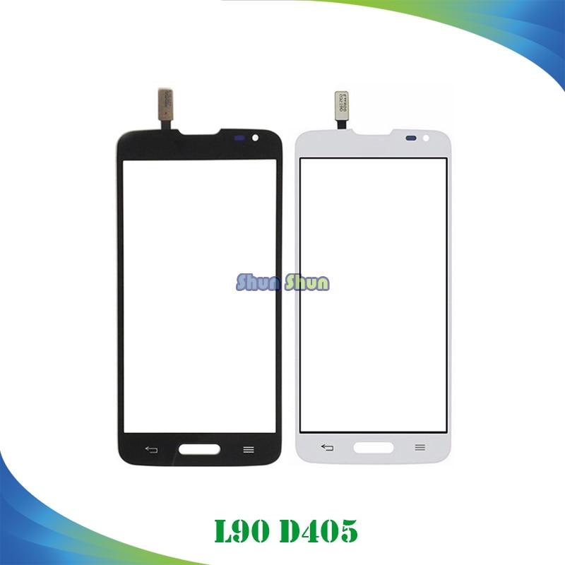 4.7 D405 Touch Panel for LG L90 D415 D405 Touch Screen Digitizer Sensor Front Glass Lens Black White Mobile Phone Parts