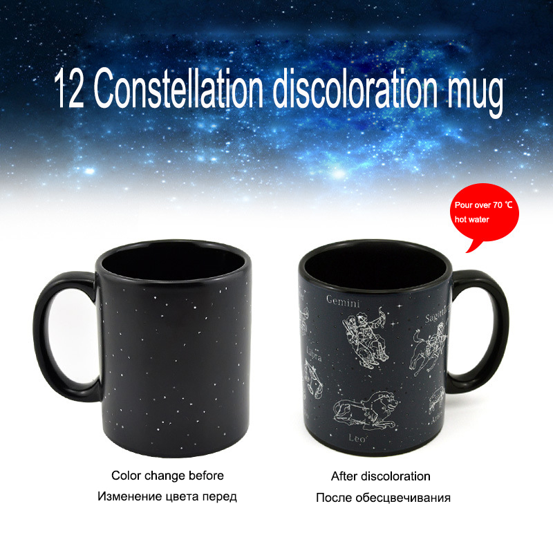 Abay Creative Magic Cup Thermochromic Coffee Mug Tea Cup Tik Tok Latest Trend Ceramic Cup Creative Gift for Young People in Mugs from Home Garden