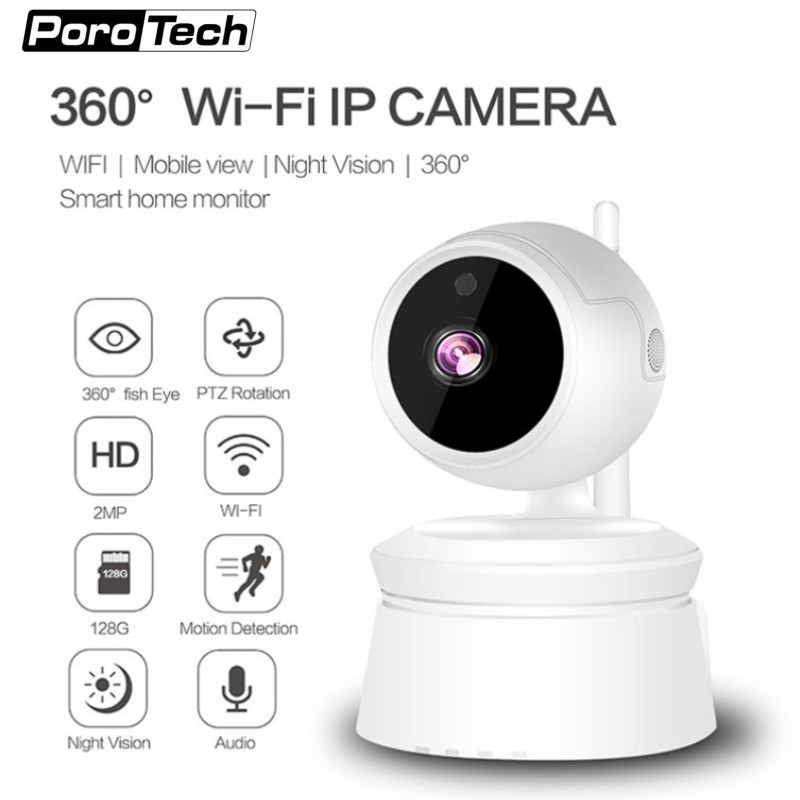 Wireless home security IP Camera baby monitor 1080P Wifi PTZ IP Camera with P2P IR Night Vision Two Way Audio/Motion Detection elaf wifi ip camera 1080p hd p2p ir cut night vision home security surveillance camera wireless two way audio baby monitor
