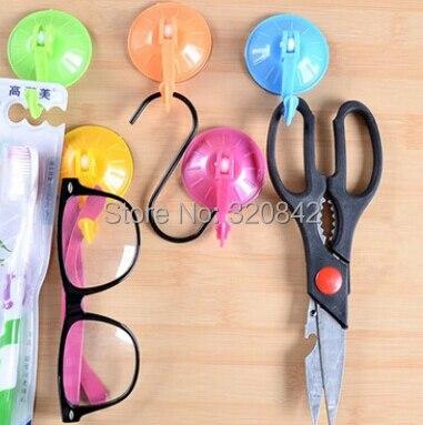 3 шт./лот, настенная вешалка, пластиковая, Экологичная, Размер 7 см, съемная, карамельный цвет, крючок, присоска, настенная вешалка, рельс для ванной, кухни