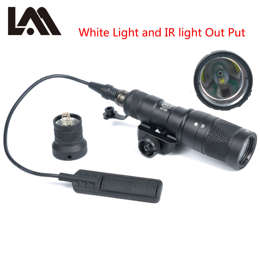LAMBUL M300V IR Luz Infravermelha Tático Lanterna Militar M300 NV Arma Leve Com Constante Saída Momentânea Para 20 milímetros Ferroviário