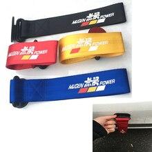 Mugen Универсальный гоночный автомобиль красный синий буксировочный ремешок декоративный буксировочный ремень бампер прицеп с наклейкой для Jazz Civic Focus