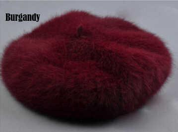 2019 moda 100% saf gerçek vizon kürk şapka kadınlar rahat el yapımı kürk kap TBFP702