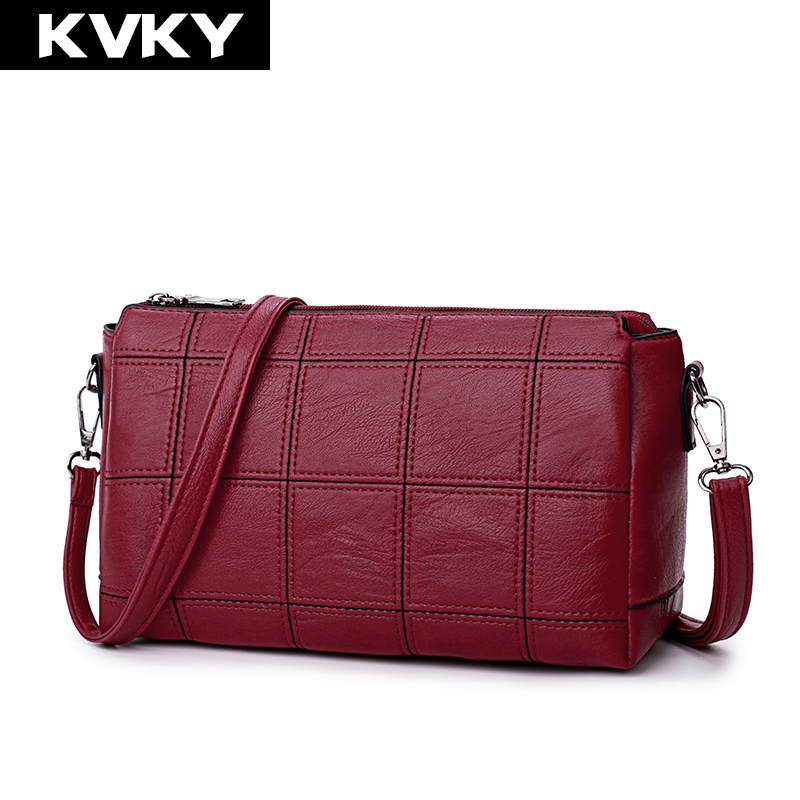 KVKY Brand 2017 Women Shoulder Bags PU Leather Crossbody Bags High Quality Handbags Female Solid Tote Bag Ladies Messenger Bags kevti brand 2017 pu leather women handbags mini female cute chain shoulder bag ladies crossbody teenagers girls bags