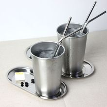 500ml Plated Barrel Hammered Moscow Mule Mug Coffee Cup Beer Cup brief metal my bootle Drink beer bottles Creative Cups