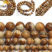 Belles pierres Jaspers, perles rondes et amples, 15 pouces, 4/6/8/10/12mm, pour la fabrication de bijoux et de colliers Bracelet à bricoler soi-même