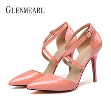 Women High Heels Summer Shoes Big Size Pointed Toe Woman Pumps Buckle Strap Wedding Shoes Thin Heel Female Dress Shoes Brand New brand shoes woman high heels women pumps stiletto thin heel women s shoes pointed toe high heels wedding shoes plus size 3 5 12