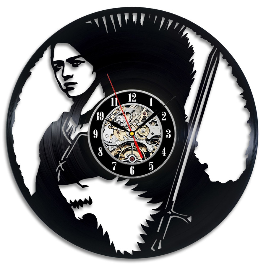 12Inch Modern Design Black LP Vinyl Record Wall Clock Fashion Sticker Hanging Watch New Year Xmas Gift