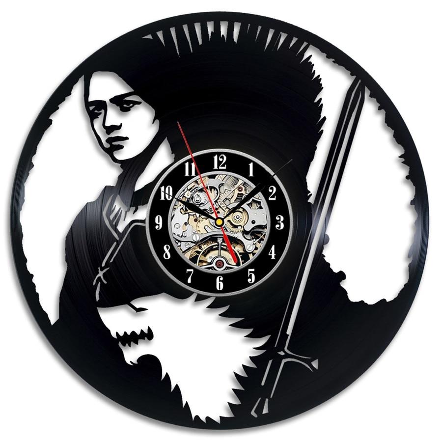 12Inch Modern Design Black LP Vinyl Record Wall Clock Fashion Sticker Hanging Watch New Year Xmas Gift