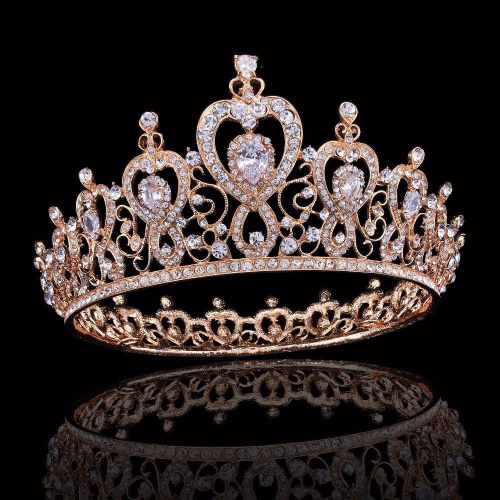 Charm Rhinestone Zircon Crown Bridal Tiara Crystal CZ