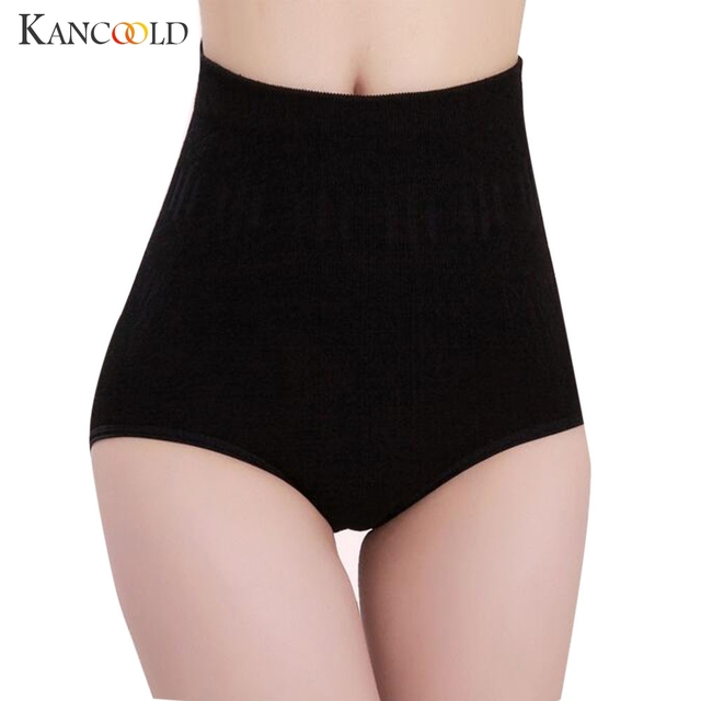 95b03e8648 High Waist Tummy Control Body Shaper Panties Women s Cotton Breathable  Underwear Sexy Slimming Briefs Jan13
