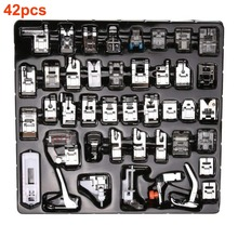 32/42pcs Domestic Sewing Tool Machine Presser Foot Feet Kit Set + Box Brother Singer Janom Machines Accessories