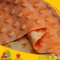 Livraison gratuite fossette soulevé dot minky tissu pour diy matériel sac café couleur vendu par mètre, mètre taille: 150 cm * 100 cm