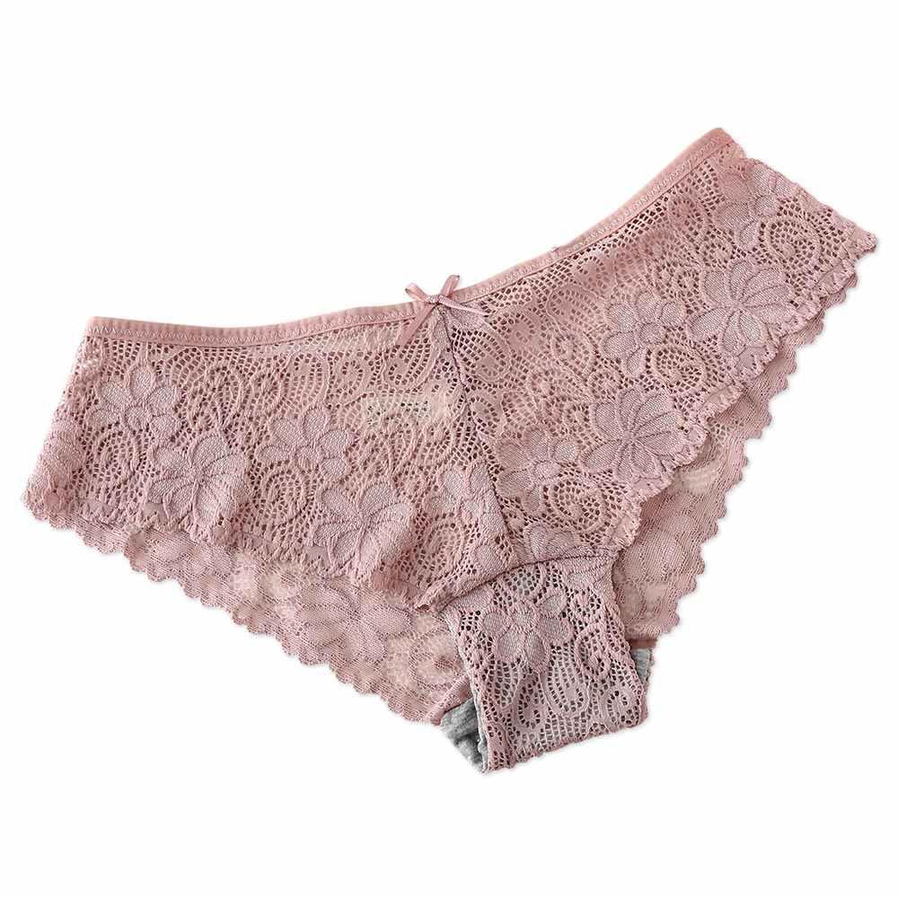 20997f4f4a03 Сексуальные кружевные трусики женское нижнее белье выдолбленные дышащие с  ...
